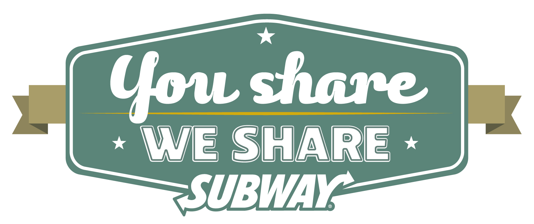 """You Share. We Share."" Subway Promotion"